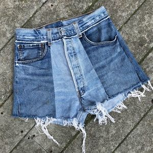 Re/Done Levi's 26 Sample Shorts High Rise Waisted